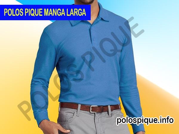 100a3dd148b8b7 Polos en pique manga larga | POLOS PIQUE EN GAMARRA